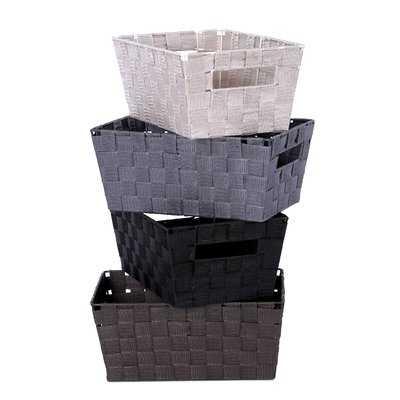 Woven-Strap Plastic Basket - Wayfair