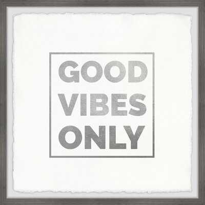 Good Vibes Only XIII' Framed Textual Art Print - Wayfair