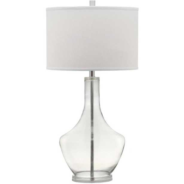 Safavieh Mercury 33 in. Clear Table Lamp - Home Depot