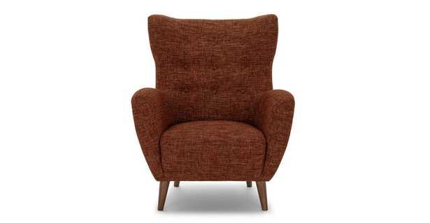 Mod Orange Spice Armchair - Article