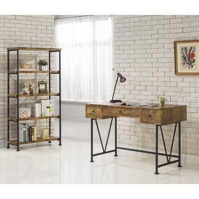 Chadron Writing Desk with Bookcase set - Wayfair