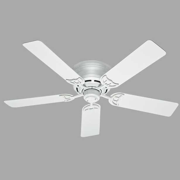Hunter Low Profile III 52 in. Indoor White Ceiling Fan - Home Depot