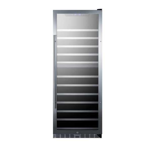 Summit Appliance 122-Bottle Dual Zone Wine Cellar, Glass/Black - Home Depot