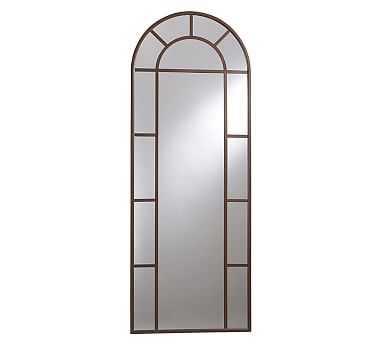 """Distiller Arch Floor Mirror, 30 x 82"""" - Pottery Barn"""