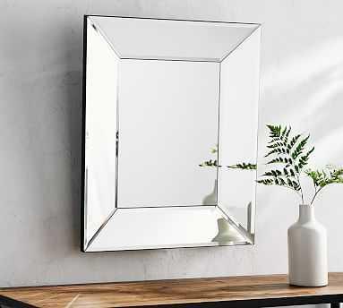 "Beveled Glass Rectangular Mirror, 22 x 26"" - Pottery Barn"
