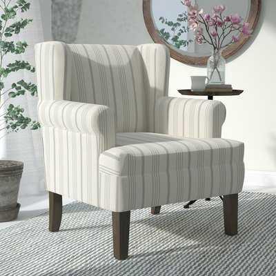 London Rolled Wingback Chair, Dove Gray - Wayfair