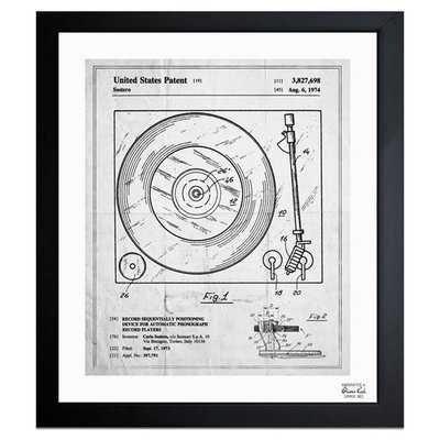 'Record Player 1974' Framed Graphic Art Print - Wayfair
