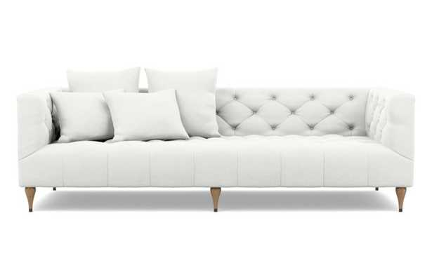 Ms. Chesterfield Sofa with Swan Fabric and White Oak with Antique Cap legs - Interior Define