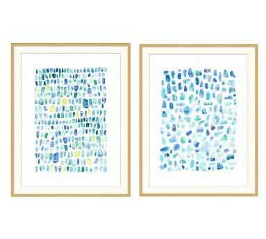 Seaglass Prints, Set of 2 - Pottery Barn