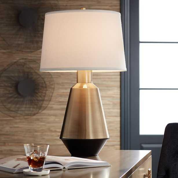 Possini Euro Cora Brass Modern Table Lamp - Style # 72R50 - Lamps Plus