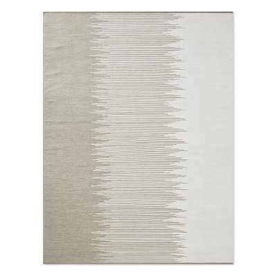 Perennials Ikat Stripe Indoor/Outdoor Rug, 9x12', Flax - Williams Sonoma
