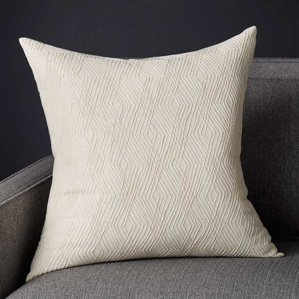 """Arley Geometric Pillow with Feather-Down Insert 20"""" - Crate and Barrel"""