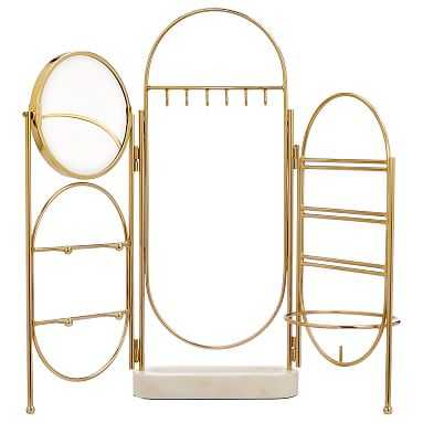Marble and Gold Jewelry Holder Screen - Pottery Barn Teen