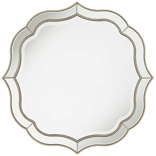 """Laureen Antique Silver 32"""" Scalloped Round Wall Mirror - Style # 60H67 - Lamps Plus"""