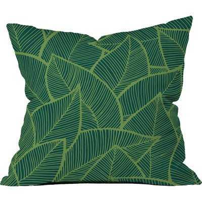 Lime Green Leaves Outdoor Throw Pillow - Wayfair