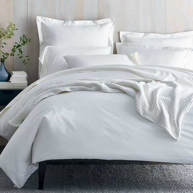 Organic 300-Thread Count Cotton Sateen White King Duvet Cover - Home Depot