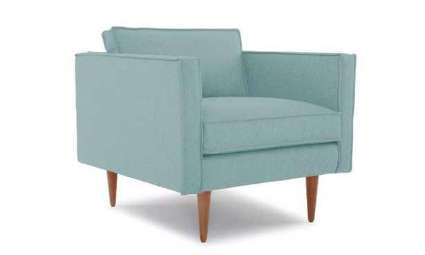 Blue Serena Mid Century Modern Chair - Impact Mist - Medium - Joybird