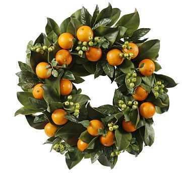 Faux Orange Wreath - Pottery Barn