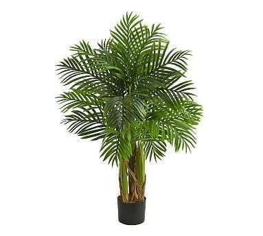 Kentia Faux Palm Tree, 4' - Pottery Barn