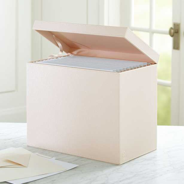 Agency Blush/Pale Pink Hanging File Box - Crate and Barrel