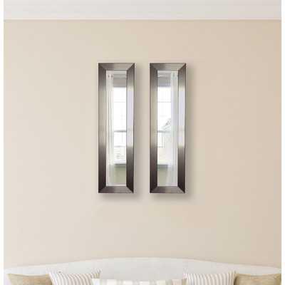 Wanneroo Silver Petite Mirror Panels Set of 2 - Wayfair