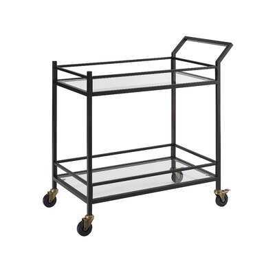 Chesterfield Bar Cart - Bronze - AllModern