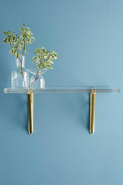 Brass Inlay Lucite Shelf-small - Anthropologie