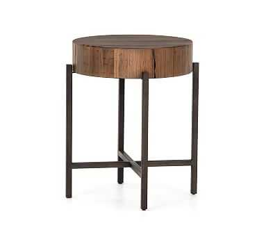 Fargo End Table, Natural Brown/Patina Copper - Pottery Barn