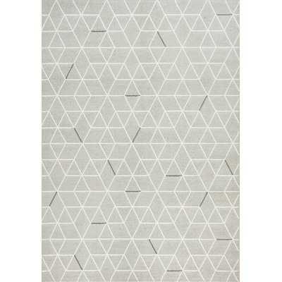 """Intrepid Hexagon Lines Area Rug, Gray, 5'3"""" x 7'7"""" - Wayfair"""