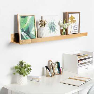 Pettine Deep Wood Floating Wall Shelf - Wayfair