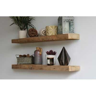 Reclaimed Barn Wood Floating Shelf - Wayfair