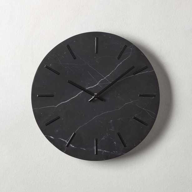 Carlo Black Marble Wall Clock - CB2