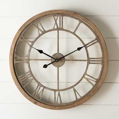 Natural Wood Wall Clock LARGE - Wayfair