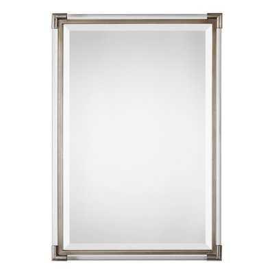 Marta Silver Frame Wall Mirror - Wayfair
