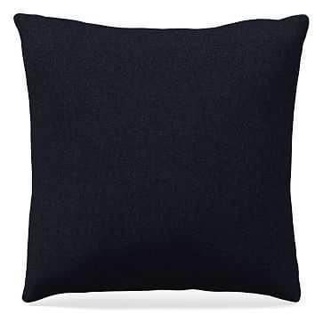 "20""x 20"" Pillow, Performance Twill, Black Indigo - West Elm"