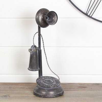 Medeiros Metal Telephone Sculpture - Birch Lane