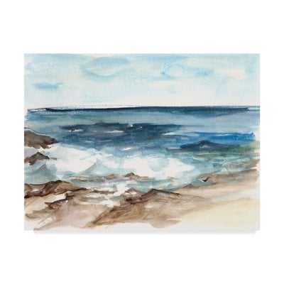 'Coastal V' Watercolor Painting Print on Wrapped Canvas - Wayfair