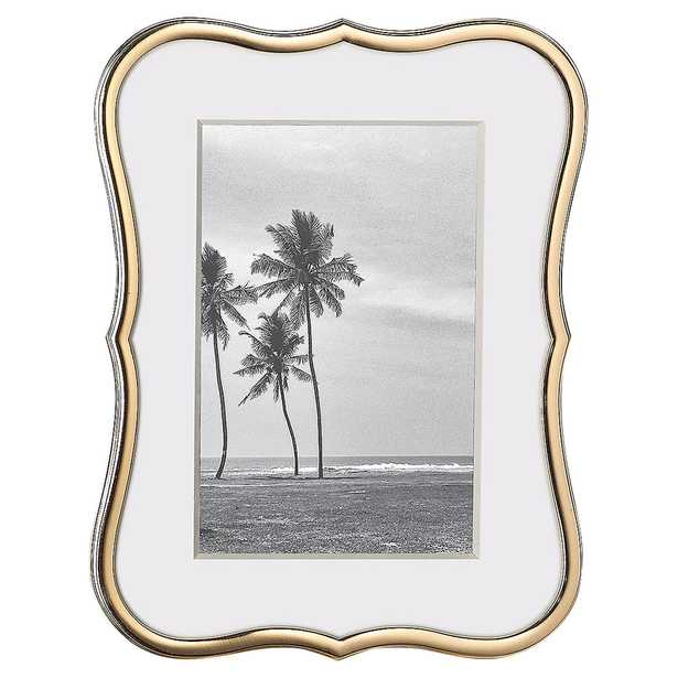 """Lenox Kate Spade New York Crown Point Gold 4"""" x 6"""" Frame - Kathy Kuo Home"""
