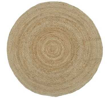 Round Jute Rug, 6', Natural - Pottery Barn