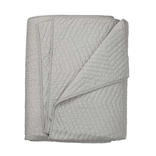 Company Gray Cotton King Quilt - Home Depot