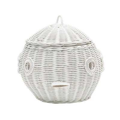 Puffer Fish Wicker Storage Basket - Wayfair