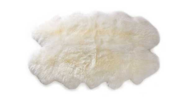 Lanna Ivory Sheepskin Throw 4 x 6 - Article