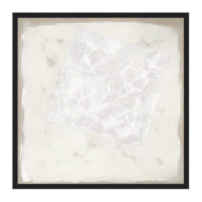 "Custom Hand-Painted Tonal Abstract, 35"" X 35"", Black Frame - Williams Sonoma"