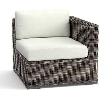 Huntington Sectional Cushion Slipcover (Square Arm RA/LA) - Sunbrella(R) Natural Sunbrella - Pottery Barn