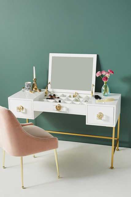 Lacquered Regency Vanity Table - Anthropologie