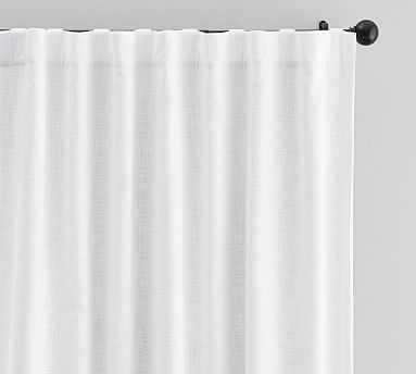 """Seaton Textured Blackout Drape, 50 x 96"""", White - Pottery Barn"""