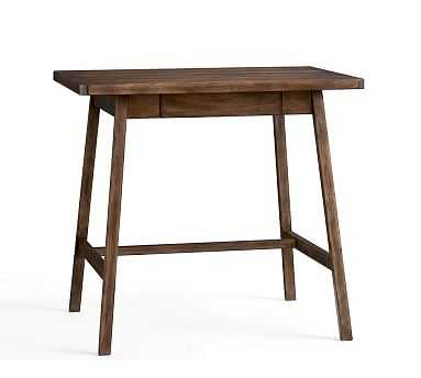Mateo Small Rustic Desk, Salvaged Black - Pottery Barn