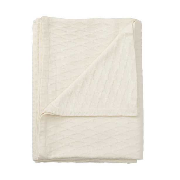 Cotton Bamboo Ivory Throw - Home Depot