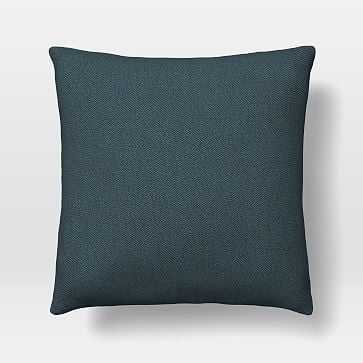 """Upholstery Fabric Pillow Cover, 24""""x 24"""" Pillow, Twill, Teal - West Elm"""