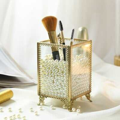Condon Glass and Pearls Brush Pen Holder - Wayfair